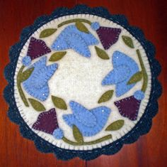 BLUE BIRDS and MORNING GLORIES Instant Download PENNY RUG E Pattern $4.99