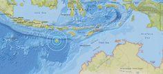 Un terremoto de magnitud 6,2 al sur de la isla indonesia de Lombok La autoridades no han informado de víctimas o de alerta de tsunami Lugar donde se ha registrado el seísmo de magnitud 6,2.