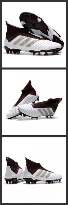 le scarpe da calcio adidas Predator 18+ FG Tacchetti da Calcio Bianco Marrone