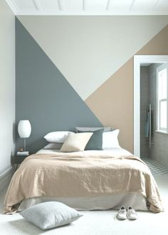 20 modern accent wall bedroom ideas for any room in your house 11 Related Bedroom Wall Designs, Bedroom Wall Colors, Accent Wall Bedroom, Bedroom Murals, Home Decor Bedroom, Wall Murals, Bedroom Ideas, Room Wall Painting, Home Interior Design