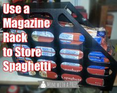 An Amazing Hack to Store and Organize Your Spaghetti Noodles in the Pantry for Food Storage Food Storage, Pantry Storage, Pantry Organization, Storage Ideas, Kitchen Storage, Pantry Ideas, Kitchen Ideas, Household Organization, Kitchen Tips
