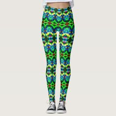 """Duplicons KCFX Leggings. 40% OFF Clothing – Use CODE: FRESHTHREADS 'til 5-5-17 11:59pm PT. These leggings will give you an entirely new exotic, exciting look. Similar to the currently trending """"Ikat"""" style, this design blends abstract art, technology and psychedelia in a completely unique fashion. Over 3000 products at my Zazzle online store. Open 24/7 World wide! http://www.zazzle.com/greg_lloyd_arts*?rf=238198296477835081"""