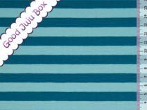 Jersey - More stripes 1 cm - Petróleo / Aqua