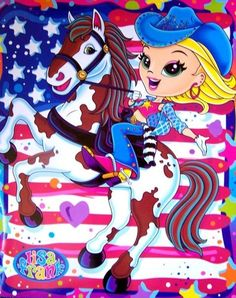 Girl with Horse - Lisa Frank Lisa Frank Stickers, Childhood Memories 90s, Rainbow Art, 90s Kids, Cute Pictures, Hello Kitty, Whimsical, Artsy, Pin Up