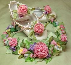hair wraeth and ballet shoes: flower girl collection