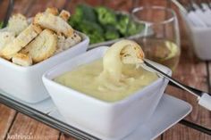 White Wine Swiss Cheese Fondue | www.drink-milkblog.com
