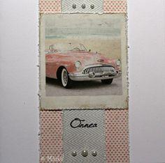Greeting card. Papers: Maja Design Summer Crush. / Onnittelukortti Crushes, Greeting Cards, Stamp, Paper, Summer, Handmade, Design, Summer Time, Hand Made