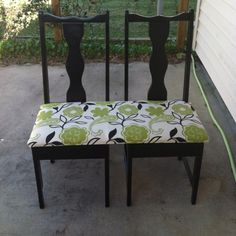 Bench made from old chairs ( I would push chairs closer together)