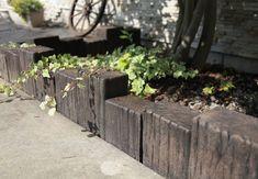 コンクリート枕木 花壇用の施工例