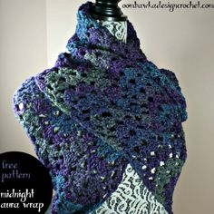 Midnight Aura Wrap Free Pattern Crossed