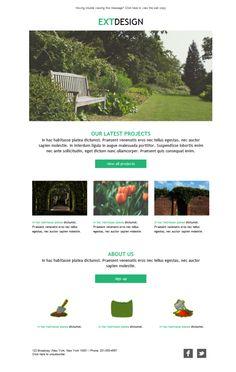 Plantillas newsletters para especialistas en servicios de paisajismo. Recorta jardines y paisajes y transmite con campañas de emailing.