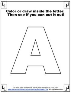 printable letter a