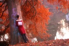 Reading in reds: Reading Poetry by Valentin-Stanciu on deviantART