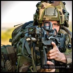 French Soldier with Famas.