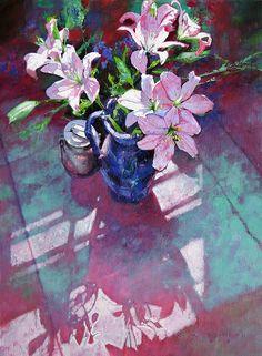 Michael Dudash - Easter Lilies #Art #Painting