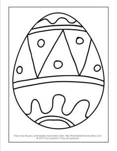 Dibujos de pascua de resurrección para colorear: Huevito de pascua