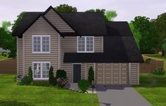 Sims game on pinterest sims 3 floor plans and house plans for Typical american house plan