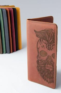 2c600bbd05471 3rd Leather Anniversary Gift for Boyfriend Leather Wallet Mens Sugar Skull  Engraved Wallet Personalize Handmade Custom Gift for Son Birthday