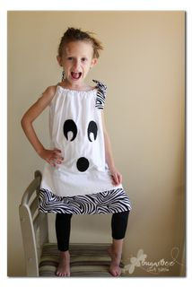 pillowcase ghost dress!  so fun & easy!