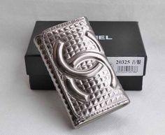 Chanel Key Holder Antique Silver Leather