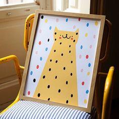 """좋아요 654개, 댓글 3개 - Instagram의 Susie Hammer(@susie_hammer)님: """"Leopard sunbathing ☀️#illustration #print #susiehammer #kidsillustration #dots #colors #leopard…"""""""