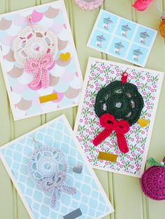 Mini Wreath Christmas Cards