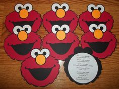 Elmo Sesame Street Birthday Party Invitations Set of by elokhaiser, Girl 2nd Birthday, Kids Birthday Cards, First Birthday Parties, Birthday Ideas, Sesame Street Party, Sesame Street Birthday, Sesame Street Invitations, 1st Birthday Party Invitations, Elmo Party