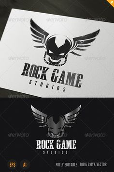 Rock Game Logo — Vector EPS #creative #smart • Available here → https://graphicriver.net/item/rock-game-logo/3869113?ref=pxcr