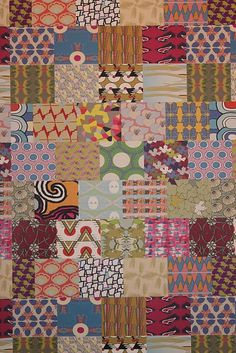 {Contemporary quilt-like Morag Macpherson textiles at ICFF}