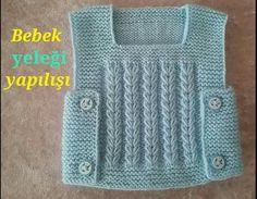 baby vest making (voice narration from start to finish) - Kindermode Easy Knitting Patterns, Knitting Stitches, Knitting Designs, Baby Knitting, Baby Pullover, Baby Cardigan, Crochet For Kids, Crochet Baby, Knit Vest Pattern