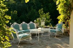 vintage white patio furniture -- Daily Classic