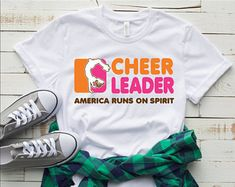 Cheerleading Shirts and Gifts by PrettyLittleFlyerCo Cheerleading Quotes, Cheerleading Shirts, Cheer Quotes, Cheer Stunts, Cheerleading Stunting, Shirts For Teens, Dad To Be Shirts, Cheer Coach Shirts, Cheer Gifts