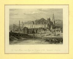 The great Mosque & the Alcazor or Dungeon of the Inquisition Cordova on the Guadalquiver (1835)