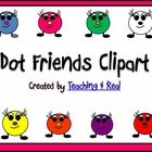 These are FREE clipart for you to use...created and designed by Teaching 4 Real!It is a zip file of 8 Dot Friends Graphics for you to use. They...