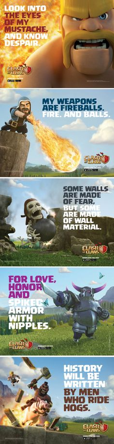 clash of the clans advertisements