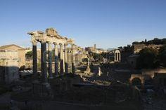 Ruins of the Temple of Saturn Roman Forum Rome Lazio Italy