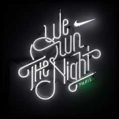 I created various signage & typographic elements for Nike's Woman's Marathon - We Own The Night. I worked closely with Matt Bridge at Nike to bring these neon slogans to life. Andre Beato created the WOTN type, while I designed & lit the neon structures. Lettering Design, Logo Design, Graphic Design, Nike Design, Typography Letters, Typography Logo, Creative Typography, Inspiration Typographie, London Logo