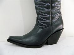 28 1/2 inch tall cowboy boots 3.5 hëel decorative stitching men size 10 in stock #JonBoots #CowboyWestern