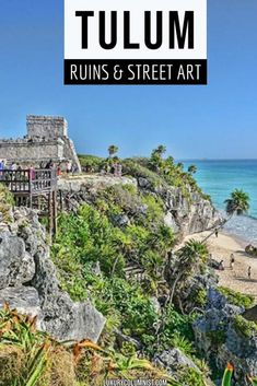 Tulum Mayan Ruins and Street Art | Things to Do in Tulum, Riviera Maya, Mexico | #Tulum | #Mexico | #TravelTips America And Canada, South America Travel, North America, Mexico Vacation, Mexico Travel, Mexico Destinations, Travel Destinations, Tulum Mayan Ruins, Tulum Mexico