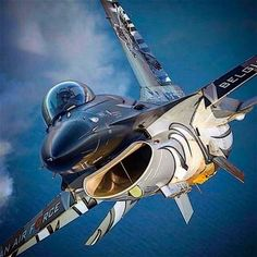 ross_impress The amazing paint of the Belgian 🇧🇪Dark Falcon. 📷 by 👊🏻 Grateful to be photographer for the Belgian Air… Military Jets, Military Weapons, Military Aircraft, Airplane Fighter, Fighter Aircraft, Air Fighter, Fighter Jets, Reactor, Photo Avion