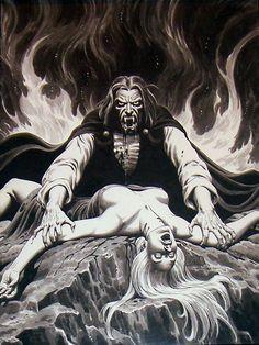 Dracula - art by Russ Heath (1974)