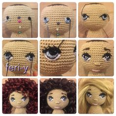 "256 Likes, 37 Comments - feri-dolls (@fereshte4745) on Instagram: ""عروسك جديدم هنوز رنگ موهاشو انتخاب نكردم دوستان كدوم رنگ بهتره؟"""