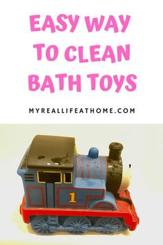 Clean bath toys easily with 1 ingredient! Use white vinegar to clean your kids' dirty bath toys. #dirtybathtoys #diycleaner #cleaningwithvinegar #naturalcleaner #clean #cleaningtoys #bathtoys #cleaningbathtoys #howto #removemoldfromtoys Cleaning Bath Toys, Household Cleaning Tips, House Cleaning Tips, Cleaning Hacks, Cleaning Schedules, Cleaning Recipes, Bathroom Cleaning, Diy Cleaners, Cleaners Homemade