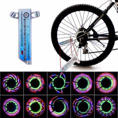 Hot Selling 16 LED Car Motorcycle Cycling Bike Bicycle Tire Wheel Valve Flashing Spoke Light Bike Accessories Wholesale <3 AliExpress Affiliate's Pin.  Click the VISIT button to find out more on AliExpress website