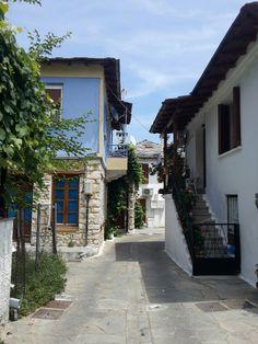 street in panagia, thassos