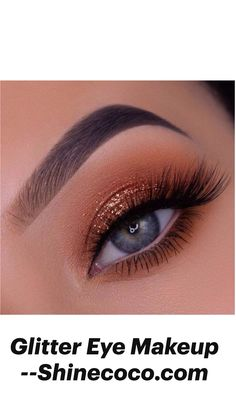 Glitter Eye Makeup --Shinecoco.com