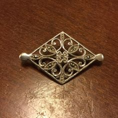 Selling this Sterling Silver Vintage Brooch on Poshmark! My username is: kennjenn2010. #shopmycloset #poshmark #fashion #shopping #style #forsale #Vintage #Jewelry