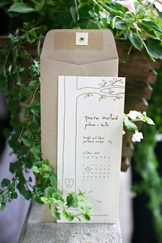 Giving tree save the date. There is a link to the free printable on IntimateWeddings.com