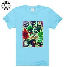 2016 Suicide Squad Detective Comics Men's Cotton Short Sleeve T-shirt Casual Tee shirt 3D digital Print AW1309