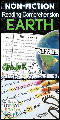 I love celebrating Earth Day in Kindergarten with a variety of activities that are geared just for them. Use these reading comprehension passages with your kids to build confidence in their reading abilities while learning about our Earth at the same time Reading Comprehension Passages, Comprehension Activities, Reading Activities, Science Activities, Science Ideas, Kindergarten Readiness, Kindergarten Science, Kindergarten Worksheets, Reading Worksheets